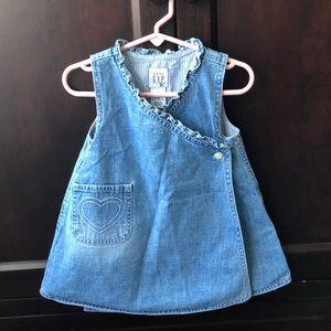 Baby Denim wrap dress